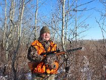 Neil on a whitetail deer stand.