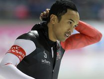 Canada's Gilmore Junio won gold Friday in the men's 500-metre sprint at a speedskating World Cup event in Germany. (Al Charest/Postmedia Network/Files)