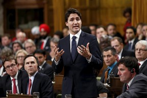 Canada's Prime Minister Justin Trudeau speaks during Question Period in the House of Commons on Parliament Hill in Ottawa, Canada December 7, 2015. (REUTERS/Chris Wattie)