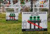 Signs put up by residents opposed to the Davenport as people protest the Davenport Rail Project. On Sunday December 6, 2015. Dave Thomas/Toronto Sun/QMI Agency
