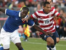 Edgar Castillo #15 of USA tries to get away from Tosaint Ricketts #15 of Canada during their international friendly match on June 3, 2012 at BMO Field in Toronto, Ontario, Canada.   Tom Szczerbowski/Getty Images/AFP