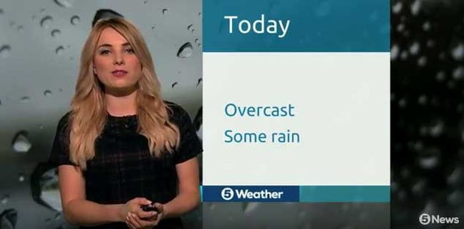 Weather reporter Sian Welby. (YouTube screengrab)