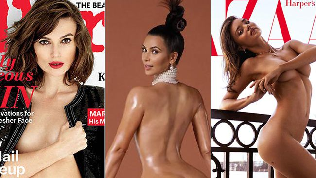 From Kim Kardashian to Jennifer Aniston, celebrities seem to love baring it all on the covers of magazines. Here are some celebrities who have recently turned heads, and left a little less to the imagination, with their sizzling covers.