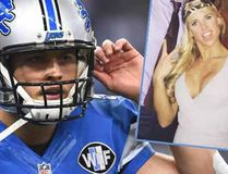 Detroit Lions QB Matthew Stafford and his wife, Kelly, on Instagram. (AFP)(