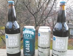 Among the beers produced at the Niagara College Teaching Brewery are Jingle Bell Bock, Beer 101, Santa's Secret Stash, and Rudolph's Red Nose.