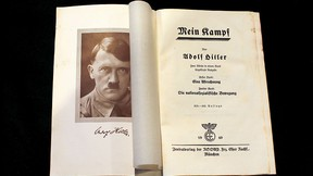 """A copy of Adolf Hitler's book """"Mein Kampf"""" (My Struggle) from 1940 is pictured in Berlin, Germany, in this picture taken Dec. 16, 2015. REUTERS/Fabrizio Bensch"""