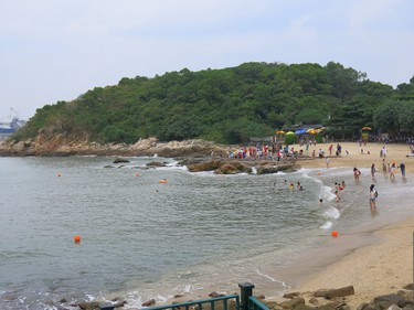 Lamma Island has several nice beaches for families to enjoy. (Photo: Jim Byers)