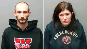 Lucas Barnes, left, and Kathleen Marie Peacock are pictured in undated handout photos obtained by Reuters December 23, 2015. Barnes and Peacock, of St. Charles, Missouri have been charged with the death of a 2-year-old Braydon Barnes, abandoned in an overheated room, according to court documents. (REUTERS/Charles County Office of the Attorney/Handout via Reuters)