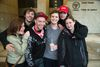 Kodey Wheeler (fourth from left) is surrounded by friends and family after being released on bail in London, Ont. on Wednesday December 23, 2015. He had spent the last six months at the Elgin Middlesex Detention Centre. With him are L to R Jennifer Hoffman, Devon Cross, Patrick Bennett, Sheldon Watson and Mikenzee Wheeler. (DEREK RUTTAN, The London Free Press)