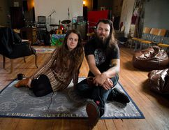 Savanah Sewell (left) and Adam Sturgeon are organizers of The Grickle Grass Festival, which continues to support expanding local charity Growing Chefs Ontario, a food and nutrition education program, and the London Regional Children's Museum. (File photo)