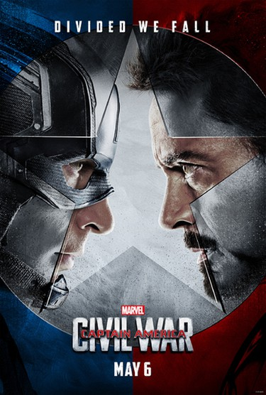 Captain America and Iron Man will do battle in Civil War opening May 5, 2016.