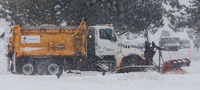 A City of Ottawa snowplow works to clear the first major snowfall of the year on Tuesday December 29, 2015. Errol McGihon/Ottawa Sun/Postmedia Network