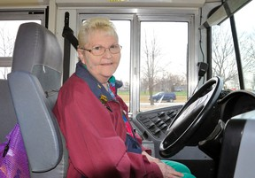 Amy Gethke has retired after 48 years driving students to school. She says she won't miss the snow, so she was glad there was little to deal with before her last day Dec. 18. ANDY BADER/MITCHELL ADVOCATE
