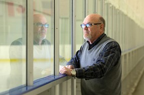 London Sports Council executive director Bill Smith stands beside an ice rink at the Western Fair Sports Centre on Thursday, where he hopes under-resourced children will soon have access to playing organized sports through KidSport. (CRAIG GLOVER, The London Free Press)