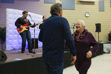 Stan Losiak (left) and Jeannine Fournier dance to the musoc of Zabava u Koli during the 2015 Deep Freeze Byzantine Winter Festival in Edmonton, Alta., on Saturday January 9, 2016. The festival continues through Jan. 10 along 118 Avenue between 90 and 94 Street. Ian Kucerak/Edmonton Sun/Postmedia Network