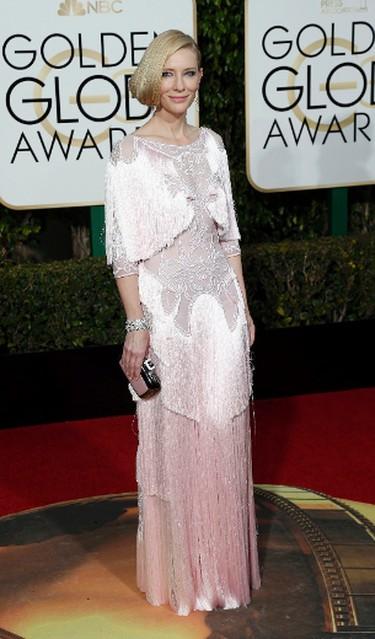 BEST in haute couture. Only Cate Blanchett could make pastel pink tassels on this Givenchy dress look so dreamy. (REUTERS/Mario Anzuoni)