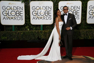 Actors Taraji P. Henson and Terrence Howard pose together as they arrive at the 73rd Golden Globe Awards in Beverly Hills, California January 10, 2016.  REUTERS/Mario Anzuoni