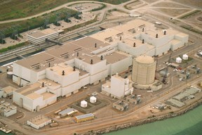 An aerial photo of the Darlington nuclear generating station. (File Photo)