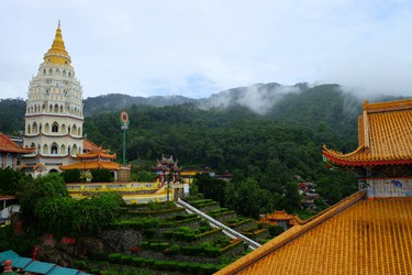 The Kek Lok Si Temple complex sits on a beautiful hill in Penang, with lovely views all around. JIM BYERS PHOTO