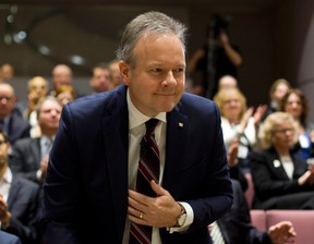 Stephen S. Poloz, Governor of the Bank of Canada prepares to deliver a speech at Ottawa City Hall Council Chambers, in Ottawa, on Thursday, January 7, 2016. THE CANADIAN PRESS/Fred Chartrand