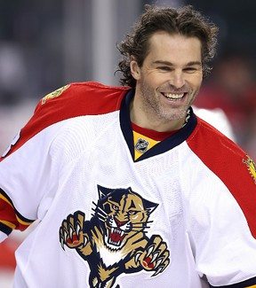 Think Jagr's old? That's your problem. The Panthers' ageless star doesn't buy it. AL CHAREST/CALGARY SUN