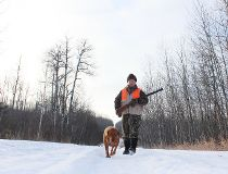 Neil and Penny on their last chance grouse hunt
