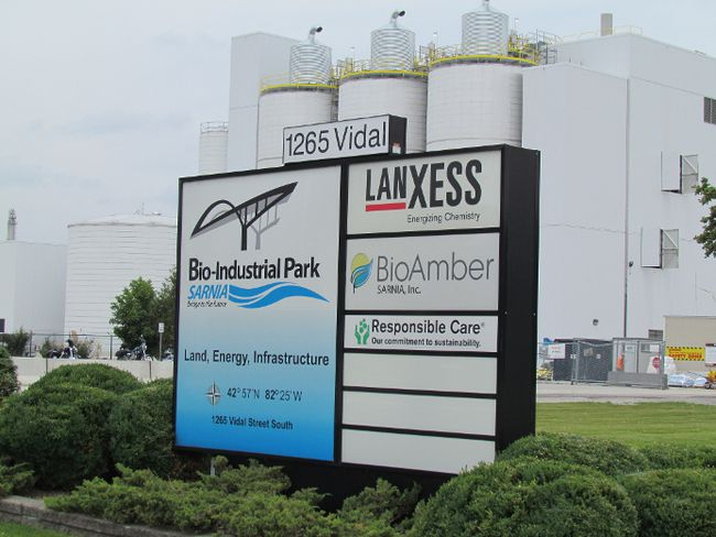 BioAmber's new succinic acid plant in Sarnia is shown in this file photo. The company recently announced several certifications for the plant, as well as a new offering to the market of 2.6 million shares of its common stock. (Sarnia Observer)