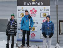 THUNDER BAY - The Georgian Bay Nordic Ski Club's Dylan Beck (centre) won two gold medals on the weekend at the first Ontario Cup race weekend of the season.