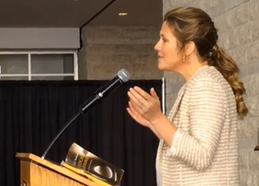 Sophie Gregoire-Trudeau, acting as special guest speaker Monday at the 12th annual celebration of Martin Luther King Day at Ottawa City Hall, was so inspired by the event, she burst into song. (Tony Caldwell/Ottawa Sun/Postmedia Network)