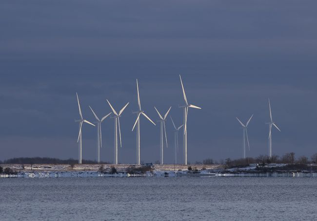 Policing the windmills on Wolfe Island is to cost Frontenac Islands Township more than $25,000 more this year. (Elliot Ferguson/The Whig-Standard)