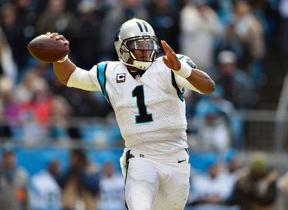Carolina Panthers quarterback Cam Newton (1) throws the ball in the their quarter against the Seattle Seahawks during the NFC Divisional round playoff game at Bank of America Stadium. Bob Donnan-USA TODAY Sports