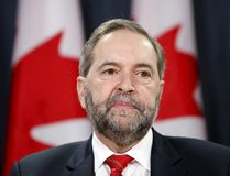 New Democratic Party leader Thomas Mulcair takes part in a news conference in Ottawa, Canada, January 18, 2016. REUTERS/Chris Wattie