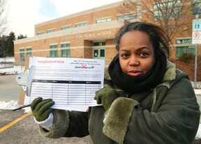 TDSB byelection candidate Sharon Kerr started petition to ensure no LCBO outlets are within 500 metres of a school if they end up selling marijuana, as proposed by Premier Kathleen Wynne. (Michael Peake/Toronto Sun)