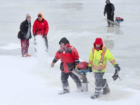 Ice crews on the Rideau Canal (Postmedia Network photo)