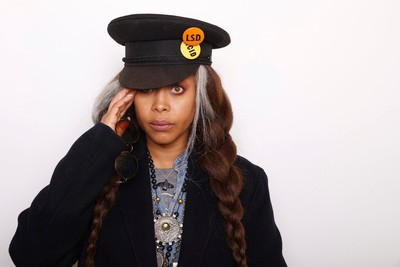 """Musician and Actress Erykah Badu poses for a portrait to promote the film, """"The Land"""", at the Toyota Mirai Music Lodge during the Sundance Film Festival on Monday, Jan. 25, 2016 in Park City, Utah. (Photo by Matt Sayles/Invision/AP)"""