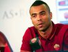 AS Roma's new player Ashley Cole attends a news conference for his presentation at the team's training centre in Rome July 15, 2014. Former England defender Ashley Cole signed a two-year deal with AS Roma after leaving Chelsea at the end of last season.