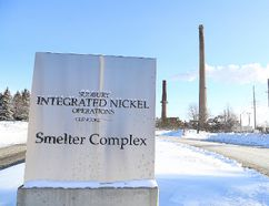 The Glencore smelter in Falconbridge is shown in this file photo.