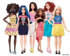 Mattel Inc., the maker of the famous plastic doll, says it will start selling Barbie's in three new body types -- tall, curvy and petite. She'll also come in seven skin tones, 22 eye colours and 24 hairstyles. (Handout: Mattel)