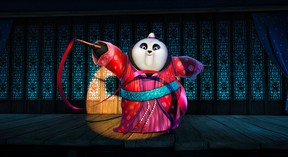 """This image released by DreamWorks Animation shows character Mei Mei, voiced by Kate Hudson performing a ribbon dance in a scene from the animated film, """"Kung Fu Panda 3.""""  (DreamWorks Animation)"""