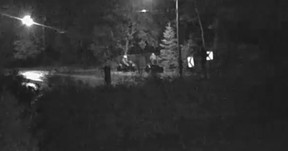 York Regional Police released video of men wanted for breaking into a houseboat in East Gwilimbury on Oct. 25, 2015 and shooting the dog inside.