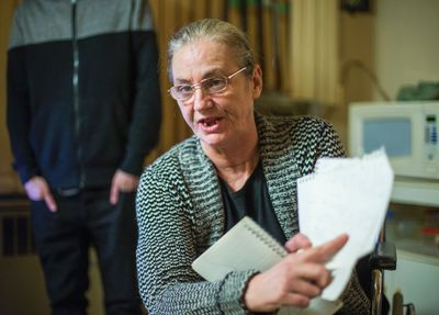 Veronica Roe suffered a broken ankle in an assault at her TCHC housing complex,  Wakunda Place. A fellow resident of the complex has been charged. (Ernest Doroszuk/Toronto Sun/Postmedia Network)