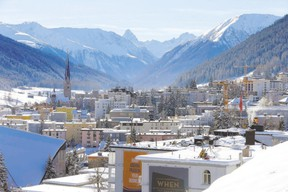 A view of the Swiss town of Davos, where the elites meet annual for the World Economic Forum. (Ruben Sprich/Reuters)