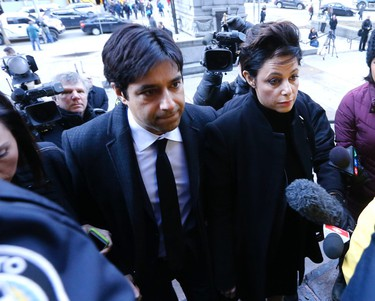 Former CBC Radio host Jian Ghomeshi arrives at Toronto's Old City Hall court for the start of his trial on sexual assault charges on Feb. 1. (Michael Peake/Toronto Sun)