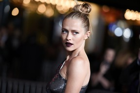 """Actress Teresa Palmer attends the LA Premiere of """"Point Break"""" held at TCL Chinese Theater on Tuesday, Dec.15, 2015, in Los Angeles. (Photo by Richard Shotwell/Invision/A P)"""