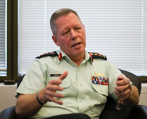 Chief of Defence Staff Gen. Jonathan Vance is interviewed by The Canadian Press in Ottawa, Monday, Dec. 14, 2015. (THE CANADIAN PRESS/Fred Chartrand)
