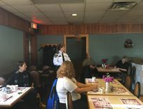 Strathroy-Caradoc police Chief Laurie Hayman speaking to a group of local residents who attended the coffee meeting organized by the police on Monday, Feb. 1, to talk about an increase in stolen vehicles.