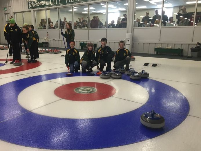 The little rocks team of skip Vincent Proulx, third Scott Fisher, second Emrys Moffette and lead Ryan Nethercott stole an eight ender at the City View little rocks spiel on Saturday.