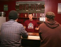 Geoff Stewart pours samples for guests at Big Rig Distillery's tasting room in Nisku on Friday, Jan. 29. Stewart and his wife, Karen Stewart-Marcos, opened Big Rig in September of 2015, and have already widely expanded their line of spirits.