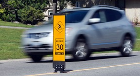Each councillor has $40,000 to spend annually on temporary traffic calming measures such as road paint, speed display boards and flexible posts. Wayne Cuddington.