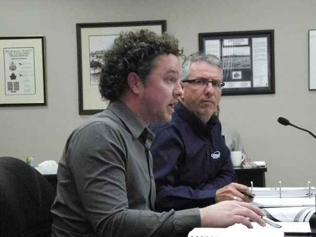 <p>Left, parks and rec manager Jamie Fawthrop and economic development/planning/parks and rec GM Mark Boileau at the budget committee meeting on Wednesday.</p><p>Greg Peernboom/Cornwall Standard-Freeholder/Postmedia Network